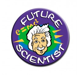 Science Fair Award Button - Future Scientist - Einstein