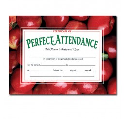 Certificates - Perfect Attendance