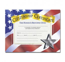 Certificates - Citizenship