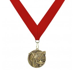 Antique Gold General Knowledge Medal - Second Place