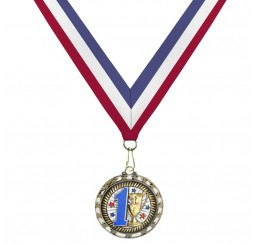 Holographic Science Medal - First Place w/ Tri-Color Ribbon