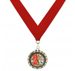 Holographic Science Medal - Second Place w/ Red Ribbon