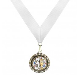 Holographic Science Medal - Third Place w/ White Ribbon