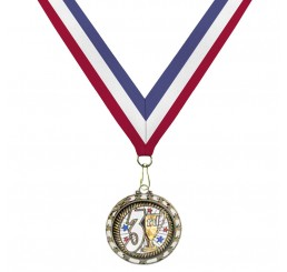 Holographic Science Medal - Third Place w/ Tri-Color Ribbon