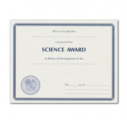 Science Certificates - Parchtone