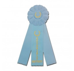 Rosette Ribbon - Honorable Mention - Light blue