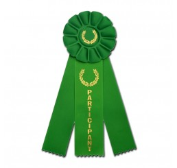 Custom Rosette Ribbon - Participant - Green
