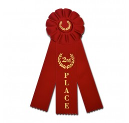 Rosette Ribbon - Second Place - Red