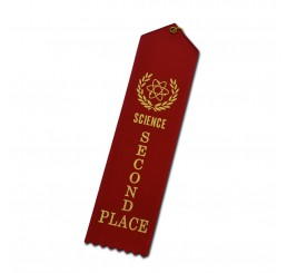 Custom Standard Ribbon - Second Place - Red