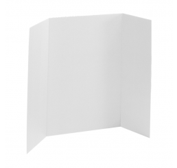 36 x 48 - Heavy Duty White Tri Fold Display Board (18 Boards / Box) $3.95 ea