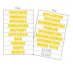 Perforated Title Sheets - 18 Word - Yellow